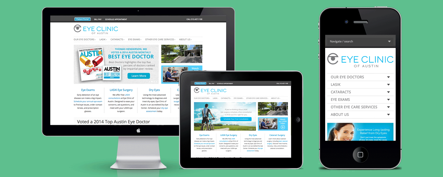 Website-Design-Responsive-Eye-Clinic-of-Austin-